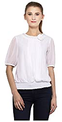 Peptrends Women's Top (TO15083WH_S, White , S)