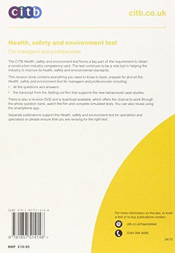 Health, Safety and Environment Test for Managers and Professionals: GT 200/15