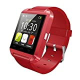 Luxsure®Bluetooth Smart Watch WristWatch U8 UWatch Fit for Smartphones IOS Android Apple iphone 4/4S/5/5C/5S Android Samsung S2/S3/S4/Note 2/Note 3 HTC Sony Blackberry(Red)