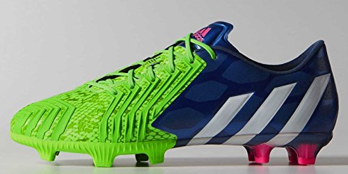Adidas Predator Instinct FG Soccer Cleat (Solar Green, Rich Blue) Sz. 7.5