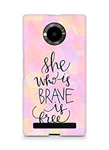 AMEZ she who is brave is free Back Cover For YU Yupheria