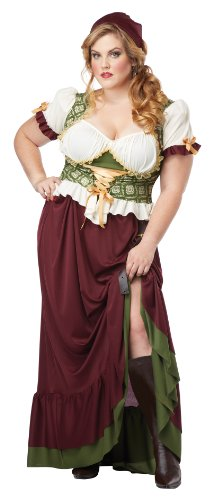 California Costumes Women's Plus Size Renaissance Wench Costume