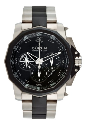 Corum Men's 75393506/V791AN Admirals Cup Chronograph 48 Black Dial Watch