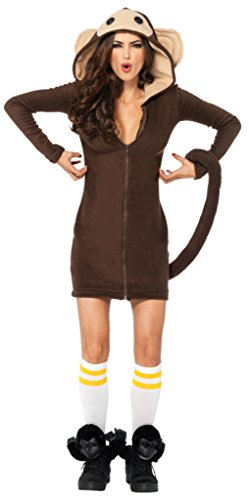 Leg Avenue Womens Animals Adorable Brown Cozy Monkey Adults Halloween Costume