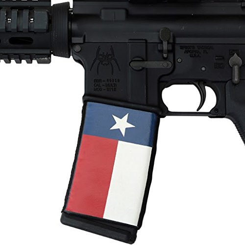 Ultimate Arms Gear AR Mag Cover Socs for 30-40rd Polymer & PMAG Mags, Texas State Red, White & Blue Flag (Soc Gear compare prices)