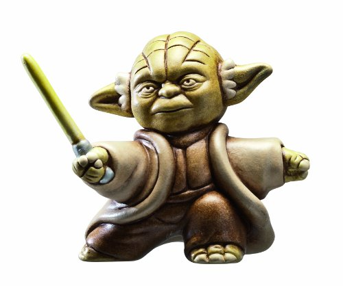 """Joy Toy Fighting Yoda Figura con Testo """"May the force be with you"""", Argilla, Multicolore, 6x6x10,5 cm"""