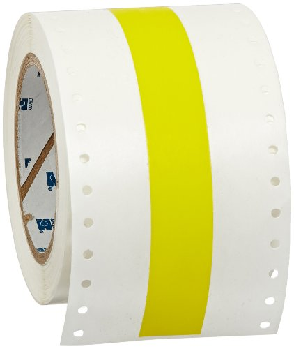 White Tape Brady 76697 GlobalMark 100 Length x 4 Width B-581 Repositional Vinyl Film