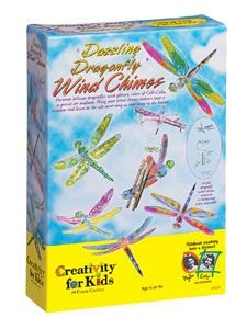 Creativity For Kids: Dazzling Dragonfly Wind Chimes Kit front-563080