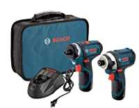 Bosch CLPK27-120 12-Volt Max Lithium-Ion 2-Tool Combo Kit (Drill/Driver and Impact Driver) with 2 Batteries, Charger and Case from Bosch