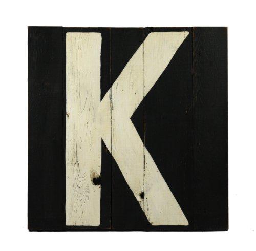 ZENTIQUE Wooden Letter, Monogrammed K - 1