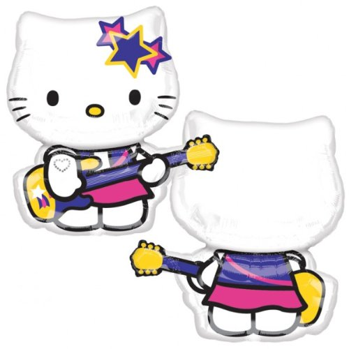 quot;Hello Kitty Rock Star SuperShape Foil Balloon, 24 /61cm W X 27 /69cm H (uninflated)quot;