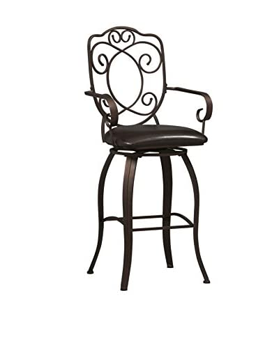 Linon Home Décor Crested Back Bar Stool, Powder Coating