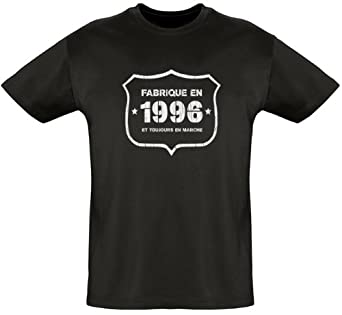 Tee shirt - Fab 1996 - Coton bio - Homme Noir L