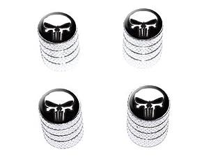 Death Skull – Tire Rim Valve Stem Caps – Aluminum