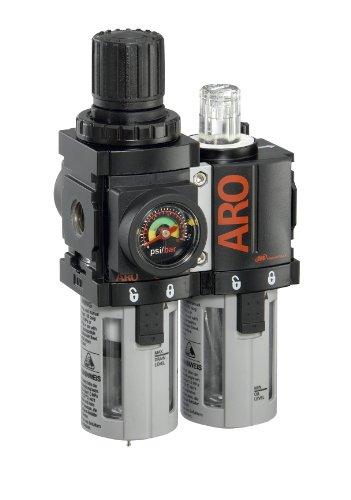 Ingersoll Rand C38121-600-Vs 1/4-Inch Filter-Regulator-Lubricator Combination, Black/Gray