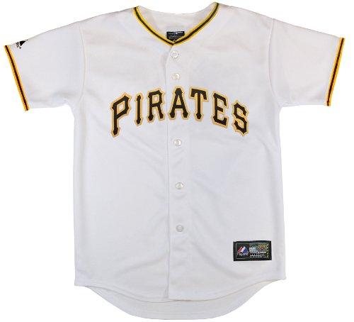 MLB Pittsburgh Pirates Boy's Alternate Replica Jersey, Black, Small