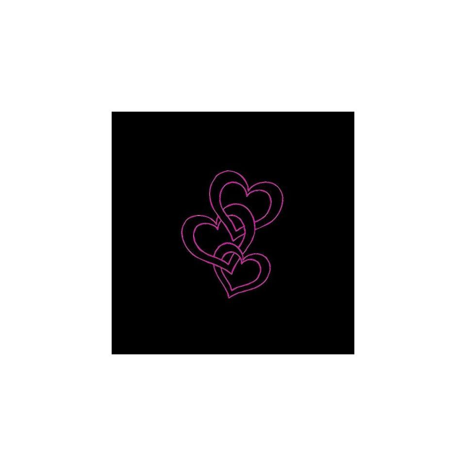 Hearts # 2 Car Window Decal Sticker Raspberry Pink 3
