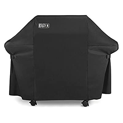 Gas Grill Cover Large 60 Inch Heavy-Duty Waterproof Gas BBQ Grill Cover for Weber, Holland, Jenn Air, Brinkmann and Char Broil