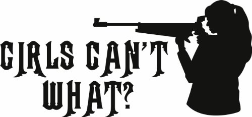 Design with Vinyl Design 147 - Black Girls Can't What ? Vinyl Wall Decal, 12-Inch By 20-Inch, Black