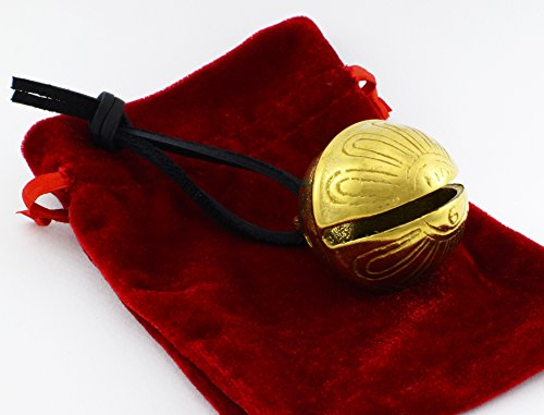 Gold Christmas Polar Sleigh Bell, Reindeer Jingle Express From Santa's Sleigh Bells 6b