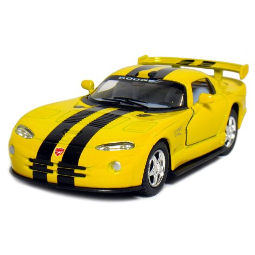 "5"" Dodge Viper GTR-S 1:36 Scale (Yellow/Black Stripes) - 1"