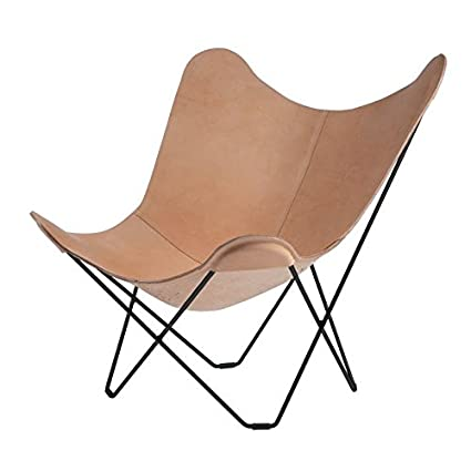 Pampa Mariposa Butterfly Chair brown/Crude Nature 70/frame black