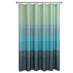 Bacova Guild Textured Layers Cool Fabric Shower Curtain