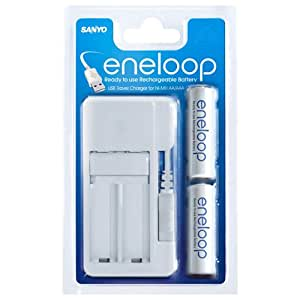 Sanyo Eneloop Usb Charger With 2x Aa Batteries Amazon Co