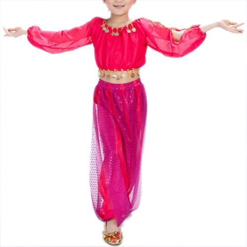 BellyLady Kid Tribal Belly Dance Costume, Harem Pants & Long Sleeve Top Sets