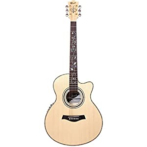 Lindo LDG-56CEQ Solid Engelmann Spruce Top Electro-Acoustic Guitar with Fishman Presys Pre-Amp and Hard Case