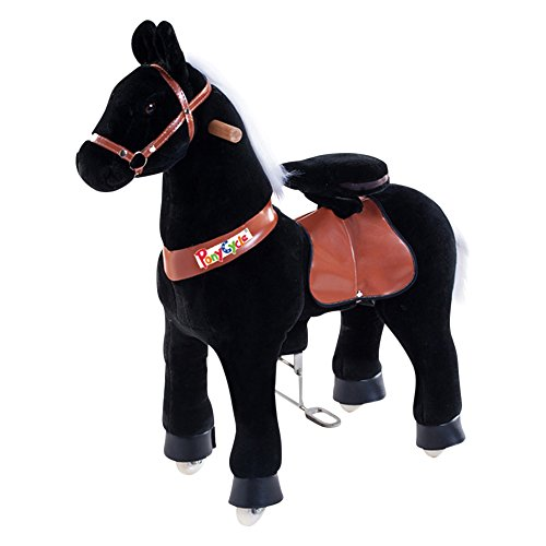 Smart Gear Pony Cycle Black Stallion Riding Toy :  World's First Simulated Riding Toy for kids Age 3-5 Years Ponycycle ride-on small (Gear Cycles compare prices)