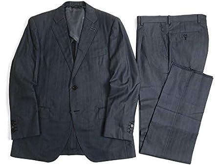 D'URBAN(ダーバン) [ダーバン] 最高級 GOLD LABEL 日本製 ウール シルク混 ストライプ柄 2B シングルスーツ ジャケット スラックス パンツ グレー 00721k01