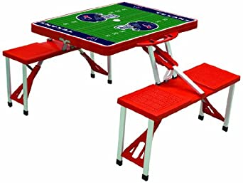 Picnic Time Red NFL Folding Picnic Table by Picnic Time