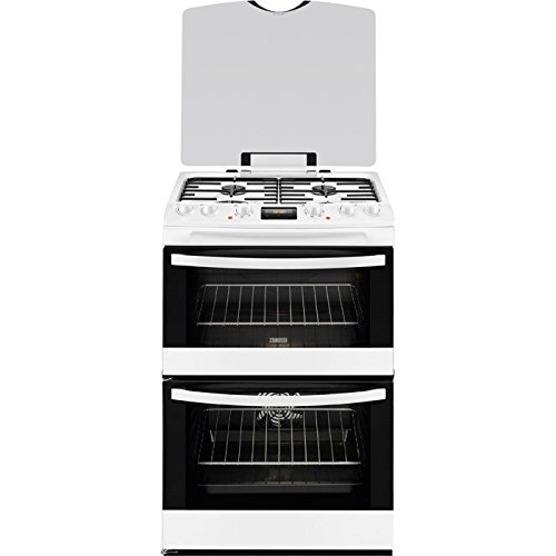 Zanussi ZCK68300W 60cm Double Oven Dual Fuel Cooker White