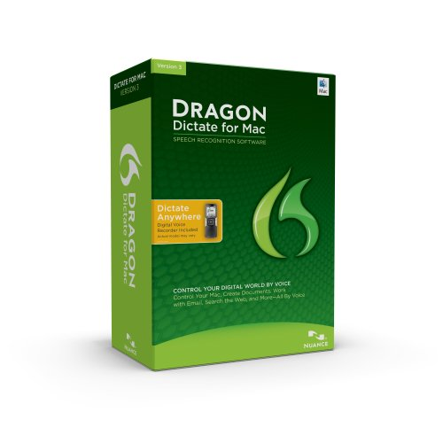 NUANCE COMMUNICATIONS Dragon Dictate for Mac 3.0, Digital Voice Recorder with KeyCard
