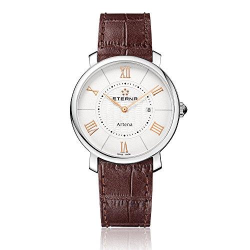 Eterna 2510.41.15.1253 - Reloj de pulsera mujer, piel, color marrón