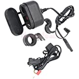 Generic Motorcycle Handlebar USB Phone Charger Cigarette Lighter Socket With Switch