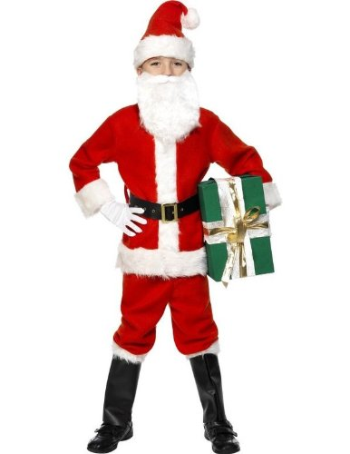 Child Deluxe Santa Fancy Dress Costume