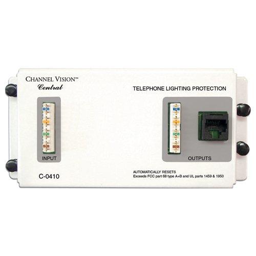 CHANNEL VISION C-0410 4 Line Telecom Surge Protector Module CHANNEL VISION C0410B00009W5KZ