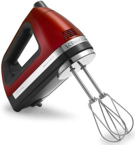 Kitchenaid 7 speed hand mixer candy apple red swivel cord with free BAG and ROD (Kitchenaid Stand Mixer Architect compare prices)