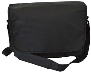 Euro Messenger Bag - 10 Colours - Holds Laptops Netbooks (Black)