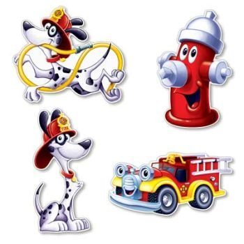 Fire Station Cutouts 16-inch Set of 4