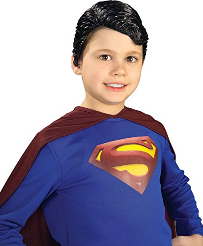 Superman Deluxe Child Vinyl Wig Costume Accessory