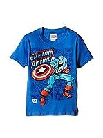 Marvel Camiseta Manga Corta Captain America (Azul)