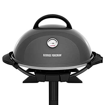 George Foreman GFO3320GM Indoor/Outdoor Gun Metal Electric Grill
