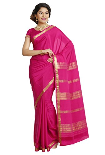 Kaushika Sarees Pure Crepe Traditional Mysore Silk Rani Saree