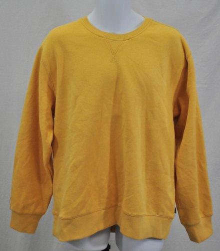 Image of New IZOD Mens Vintage Crew Neck Sweatshirt Long Sleeve Gold Size Xl