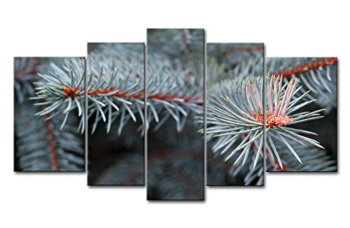 5 Panel Wall Art Painting Pine Tree Pictures Prints On Canvas Botanical The Picture Decor Oil For Home Modern Decoration Print