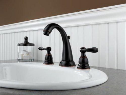 Kohler Elmbrook 8 In Widespread 2 Handle Bathroom Faucet: Delta Windemere B3596LF-OB Two Handle Widespread Lavatory