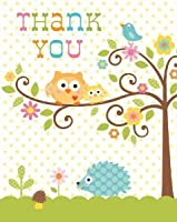 Toy / Game Creative Converting Happi Tree Sweet Baby Thank You Notes, 8 Count - Perfect Supplies For Kids by 4KIDS